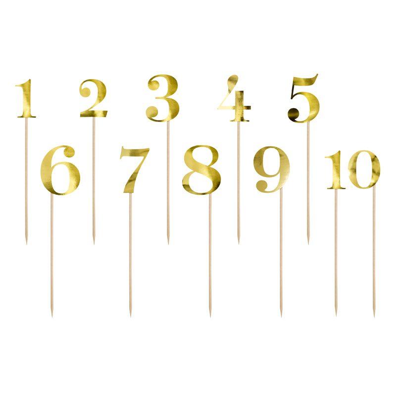 nummers goud liefslabel