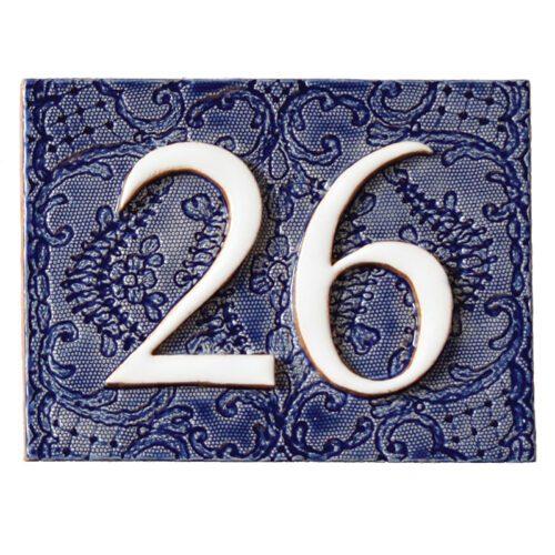 Handgemaakt huisnummer bord