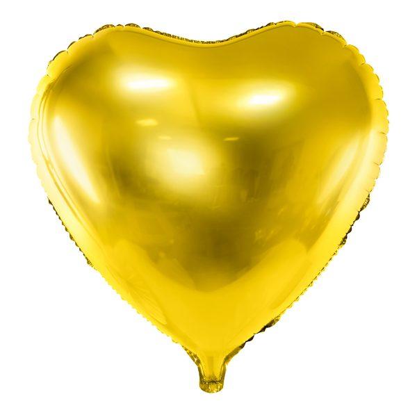 heliumballon hartje goud