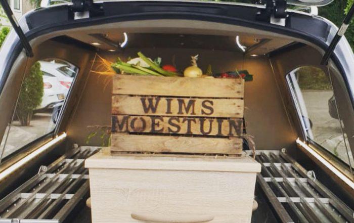 fruitkist begrafenis houten krat met tekst liefslabel