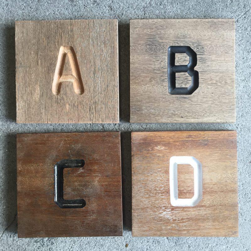 kleuropties houten bord naambord liefslabel