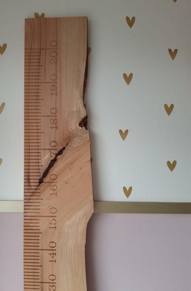 houten meetlat kinderkamer Julia kraamkado kraamkado liefslabel