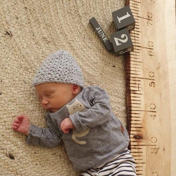 meetlat groeimeter kraamcadeau newbornshoot liefslabel