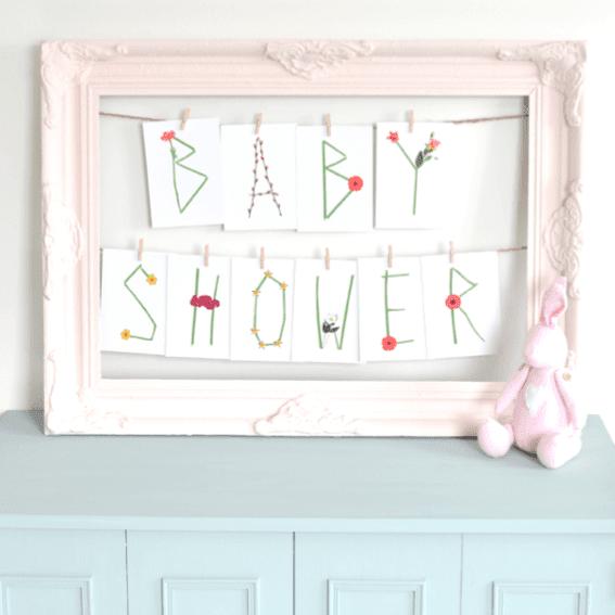 Babyshower Leve de Lente Liefslabel