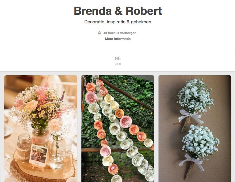 LiefsLabel Bren's Bruiloft Tips Pinterest